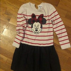 Girls Size 5y/o Minnie Mouse long sleeve dress